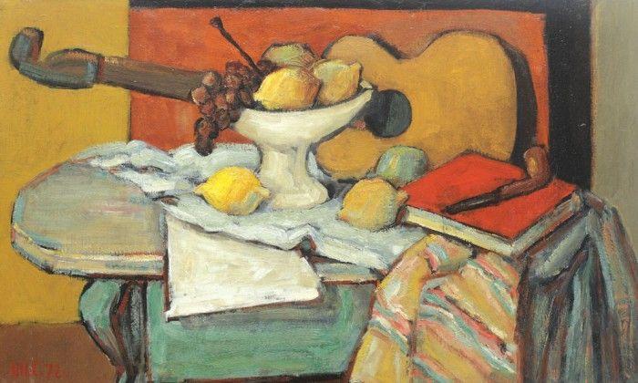 Henri H. Catargi, Natură statică cu chitară și fructe