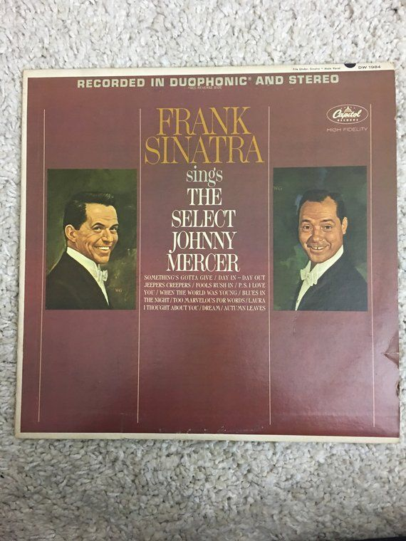 The Select Johnny Mercer By Frank Sinatra Blues In The Night