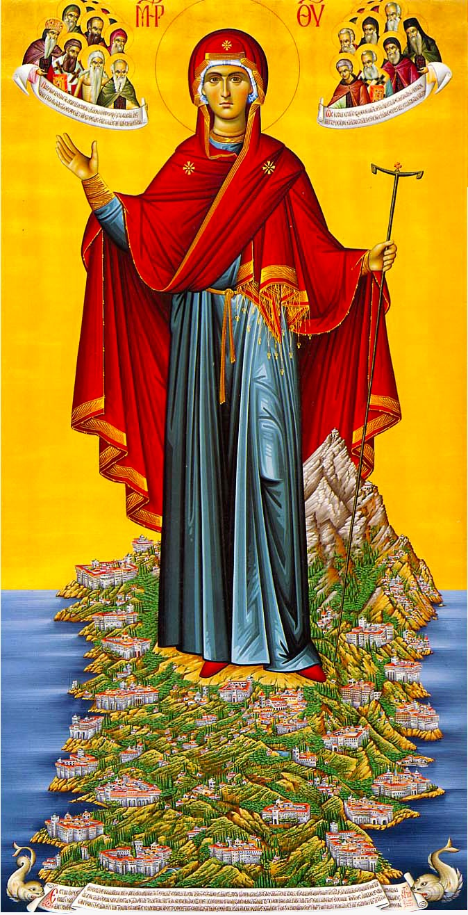 Icon of the Holy Mother of God on Mount Athos