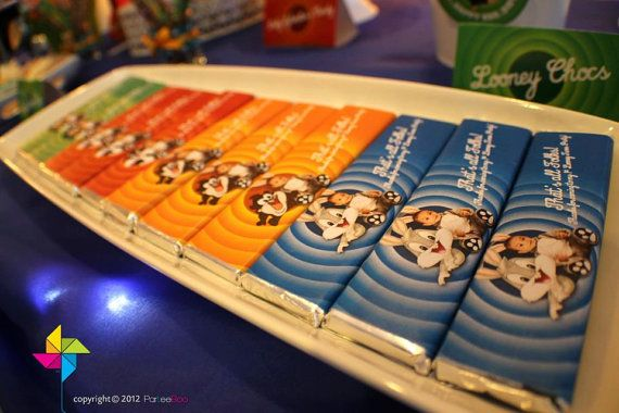 Customized Party Chocolate Bar Wrapper Looney Tunes by ParteeBoo, $15.99