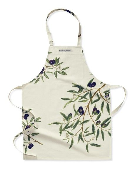 cute botanical print apron