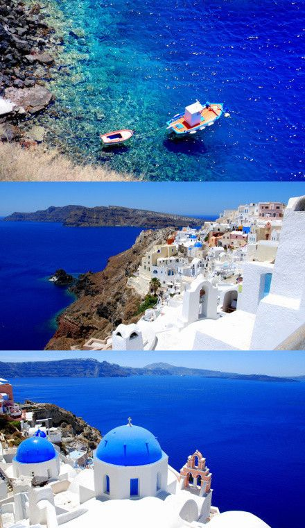Santorini - Greece: most amazing water everrrrrr.
