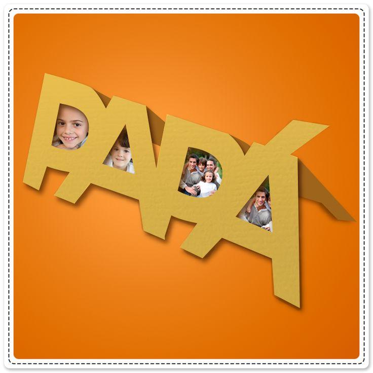 ¿Ya tienes el regalo para papá? Qué tal este sencillo detalle, busca fotos de la familia, ¡y haz este increíble portarretratos! ¿Qué necesitas? Lápiz adhesivo marca Pritt, cartulina, fotografías familiares y tijeras.  #Manualidades #DíaDelPadre #Papá #Pritt #Crafting