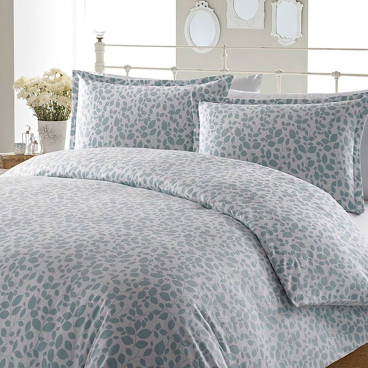 laura ashley leaves aqua flannel duvet cover set duvet covers at hayneedle