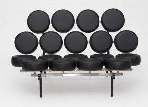 Sofa Candy - D2 - czarna skóra