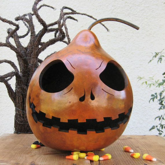 Halloween Gourd Jack O Lantern Natural Fall by pinchmeboutique, $32.00