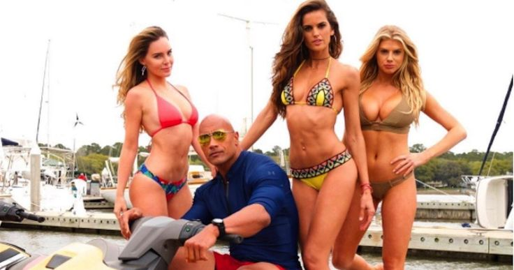 Dwayne Johnson Introduces 2 New 'Baywatch' Babes -- Dwayne Johnson shares a photo of new cast members Izabel Goulart and Charlotte McKinney from the 'Baywatch' set. -- http://movieweb.com/baywatch-movie-cast-izabel-goulart-charlotte-mckinney-photo/