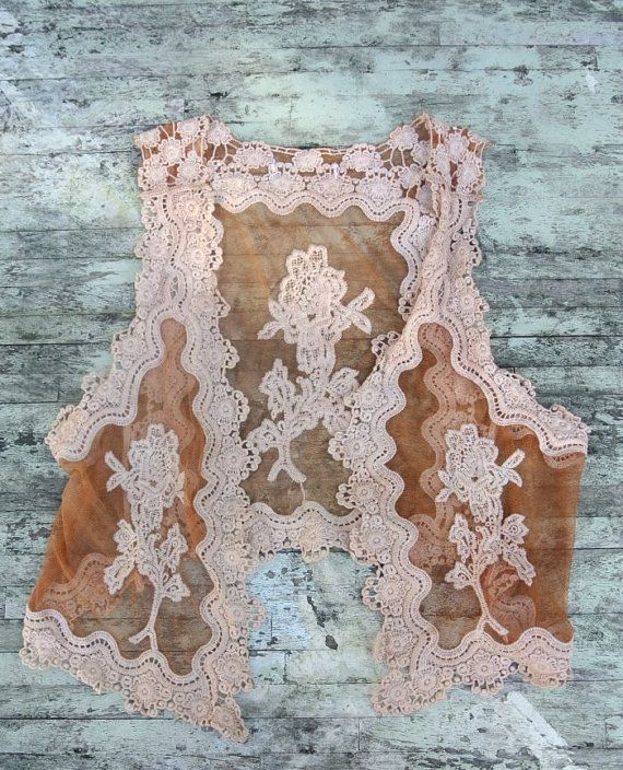 Romantic Gypsy Cowgirl Lace vest Rustic by TrueRebelClothing, $52.00