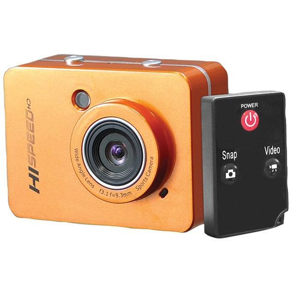 Pyle-Sports Pschd60Or 12.0-Megapixel 1080P Action Camera With 2.4'' Touchscreen (Orange)