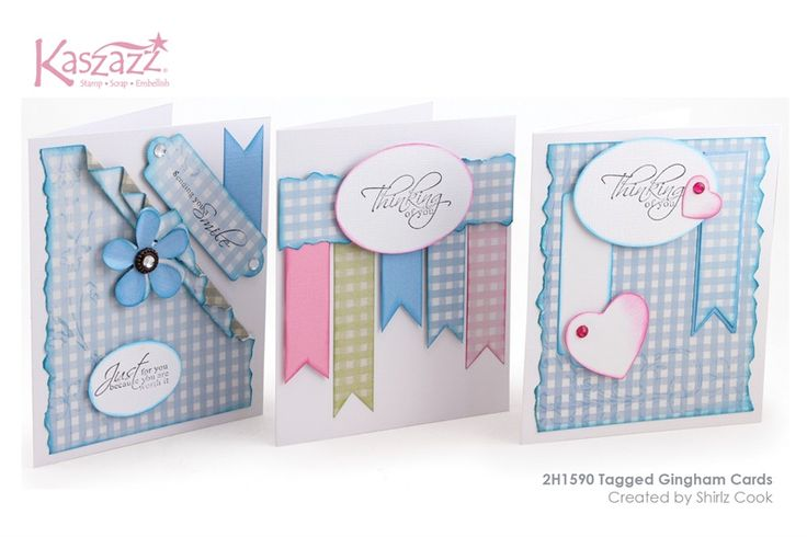 2H1590 Tagged Gingham Cards