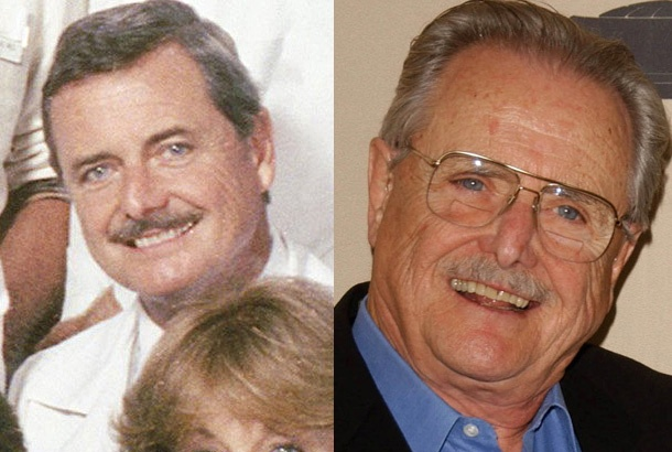 William Daniels as Dr. Mark Craig on St. Elsewhere in 1983 and William Daniels in 2007