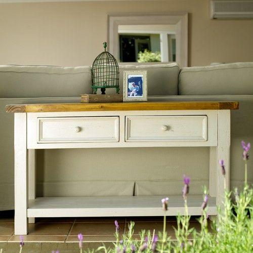 Tuscan 2 Drawer Sofa Table (1200W x 400D x 740H mm) RRP $515