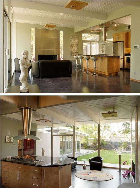Renovated eichler kitchen eichlers pinterest for Eichler flooring