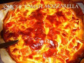 Quiche tomates-mozzarella de Cyril Lignac