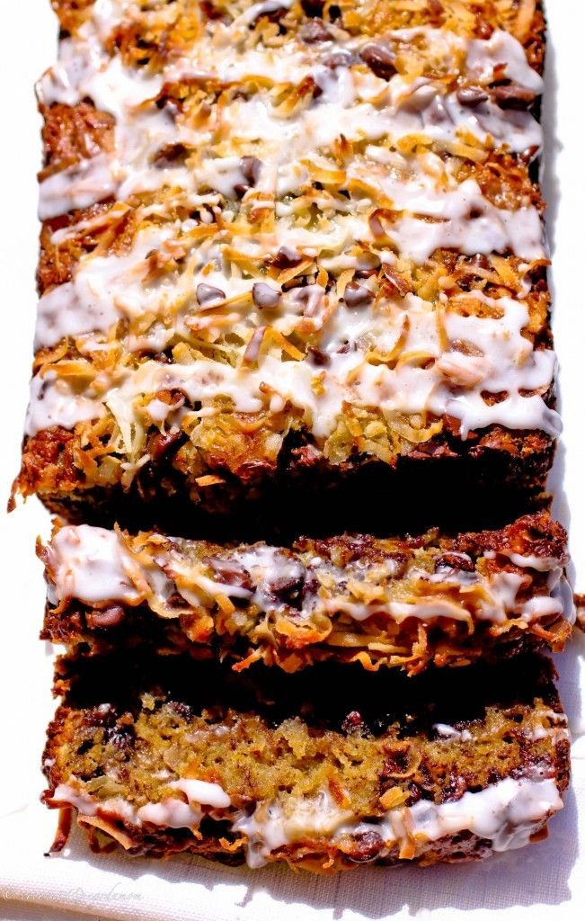 Peggy's Famous Coconut Chocolate Chip Banana Bread Gone Gluten Free: Coconut Choc, Chips Bananas, Fun Recipes, Chocolates Chips, Choc Chips, Bananas Breadi, Bananas Breads I, Banana Bread, Gluten Free