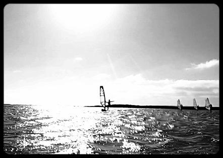 Windsurfing shaka from leon