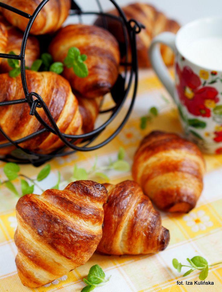 Smaczna Pyza: Rogaliki francuskie - Croissants - wypiekanie na śniadanie