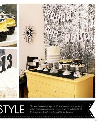 New Year's Eve Party: IN LOVE with the sequin fabric backdrop!  {Jenny Dixon of Crossing the Bugger-Dixon Line}