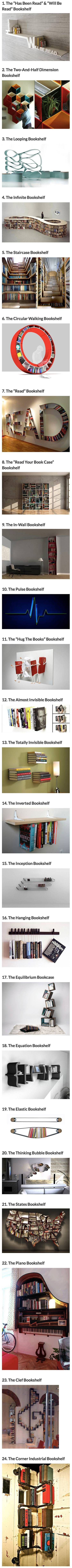 We have rounded up some cool and creative bookshelves that geeks would love.