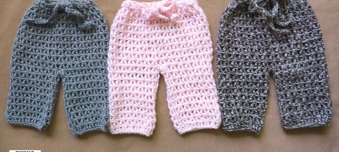 Treble Crocheted Baby Pants [S.O.P. Series]