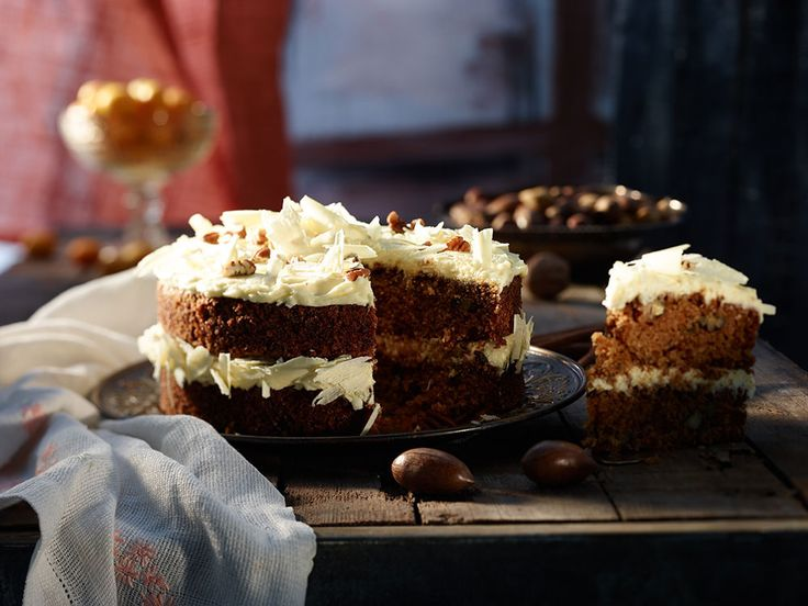Carrot Cake with Chocolate Cream Cheese Icing #Dessert #Cake