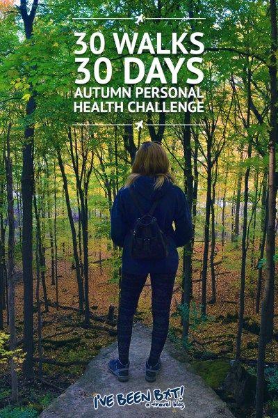 IveBeenBit.ca :: 30 Walks 30 Days - Autumn Personal Health Challenge   Walk, Fitness, Autumn, Fall, Canada, Leaf Peeping, Autumn Colours, Health and Wellness  