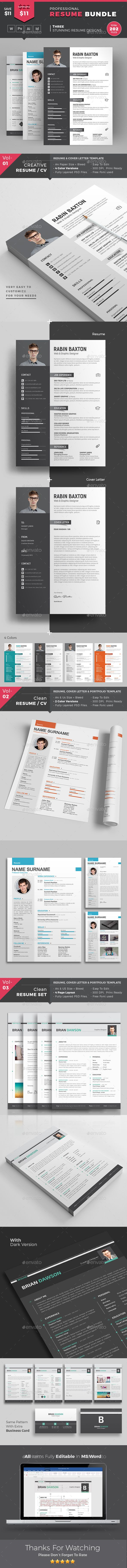 Resume by themedevisers Resume Word Template Bundle