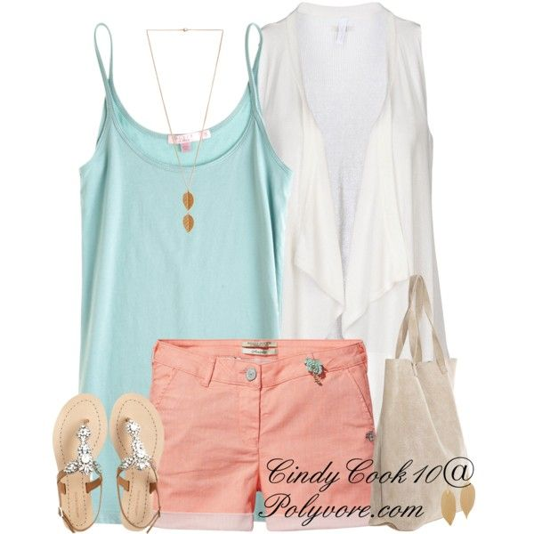 Teal and Peach :)