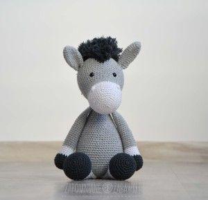 crochet donkey / szydełkowany osiołek