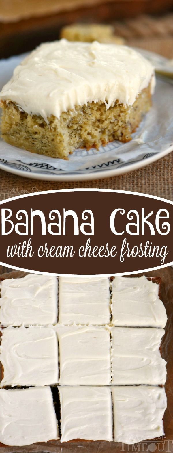 This Easy Banana Snack Cake with Cream Cheese Frosting is the BEST way to use up those ripe bananas! A delicious, moist cake that no one can resist! | eBay