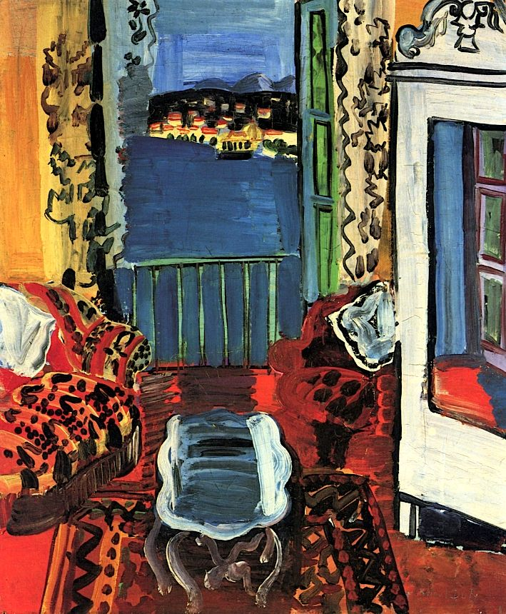 A Room in Nice / Raoul Dufy - 1927