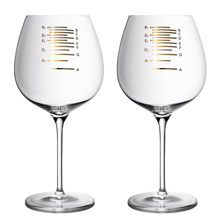 GOLD MUSICAL WINE GLASS