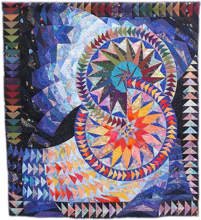 Can I quit work to work on this?  Oh to restart my summer...: Flying Geese, Big Bang, Garber Quilts, Gail Garber, Art Quilts, Intricate Stars, Quilt Board, Fiber Art