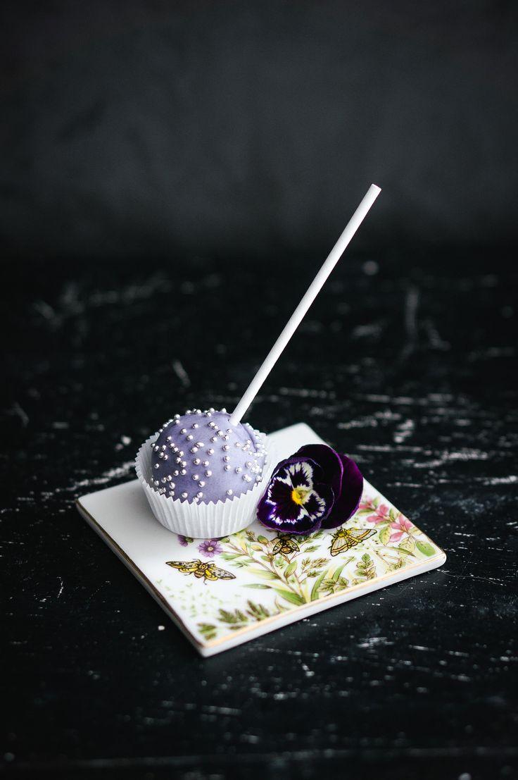 Lavender chocolate  cake pops