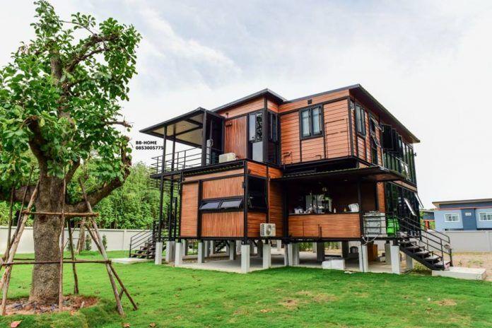 แบบบ านพ กอาศ ยน อคดาวน โครงเหล ก 2 ช น By Bb Home Ihome108 House Styles Simple House Design House Design