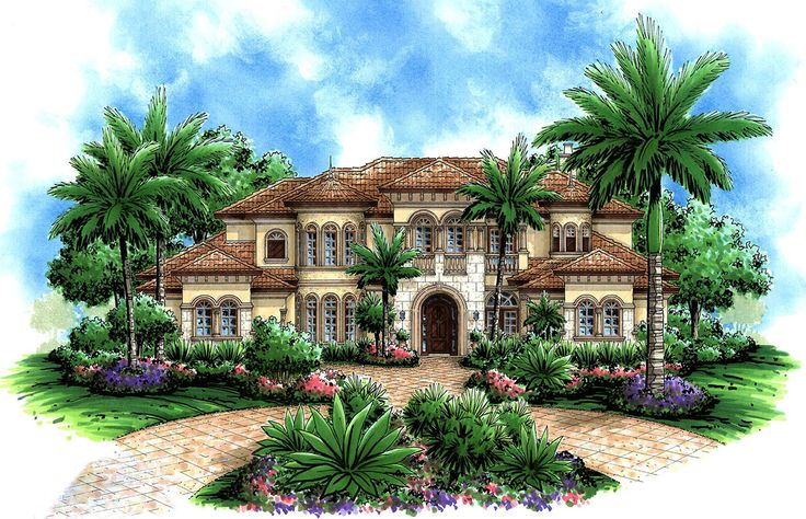 Captivating Mediterranean Design - 66191WE | Architectural Designs - House Plans