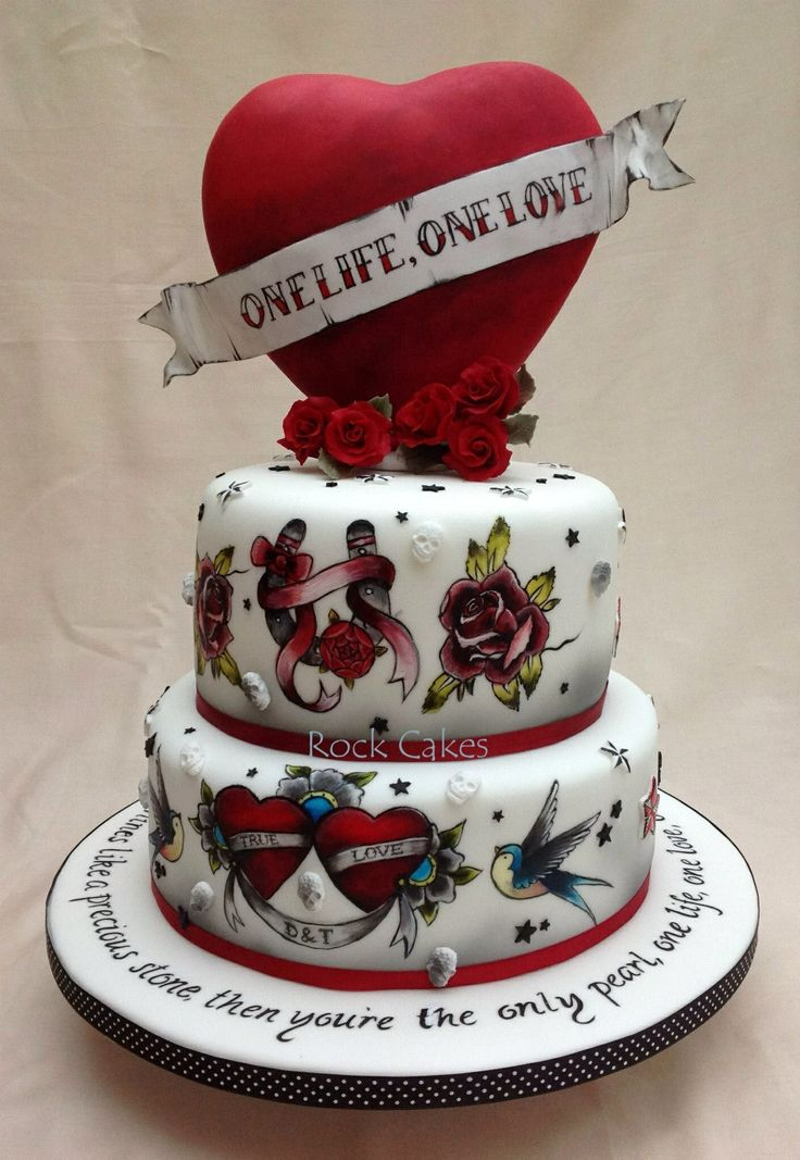Tattoo Wedding Cake Round Wedding Cakes Rockabilly