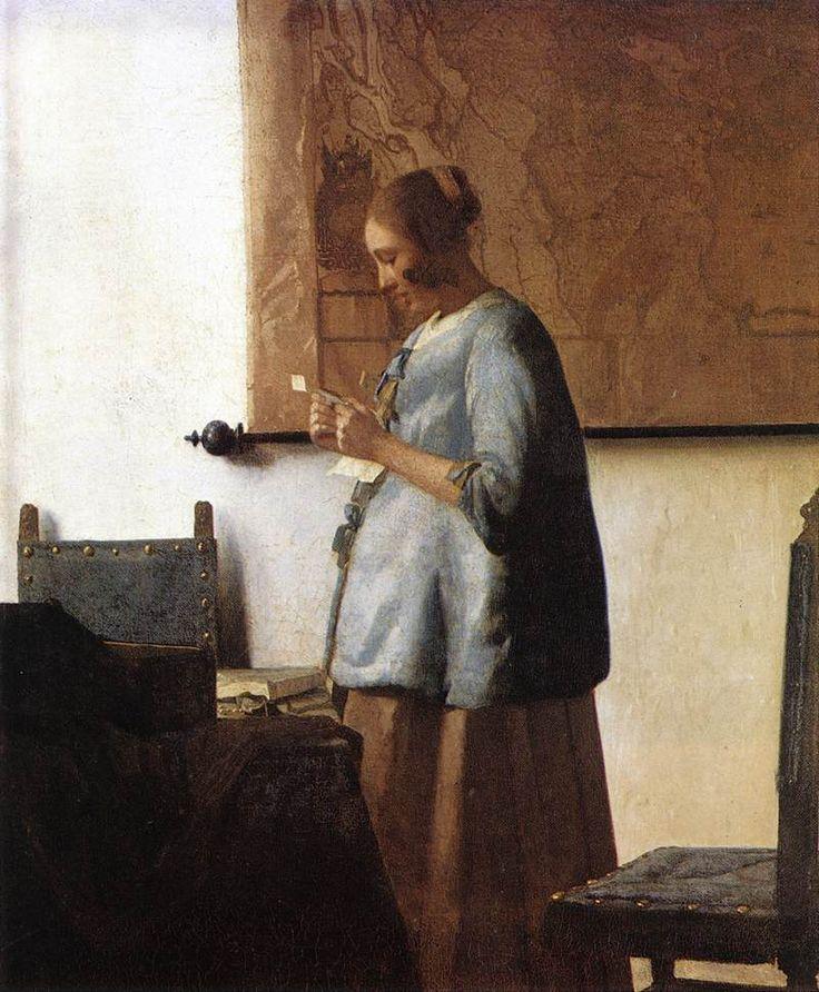 Γυναίκα στα μπλε διαβάζει επιστολή. (1663-64)