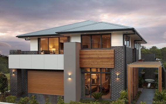 modelos de fachadas de casas modernas de dos pisos   Diseño de interiores