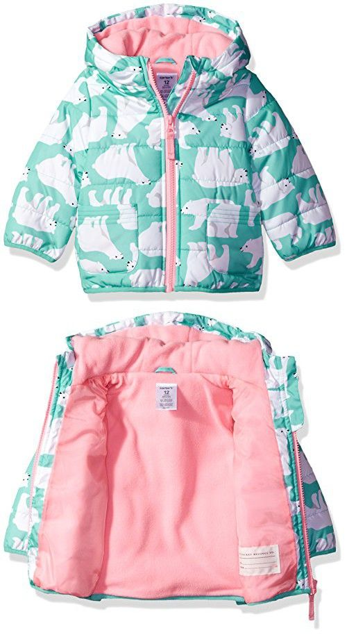 775719584 Carter s Baby Girls Fleece Lined Puffer Jacket Coat