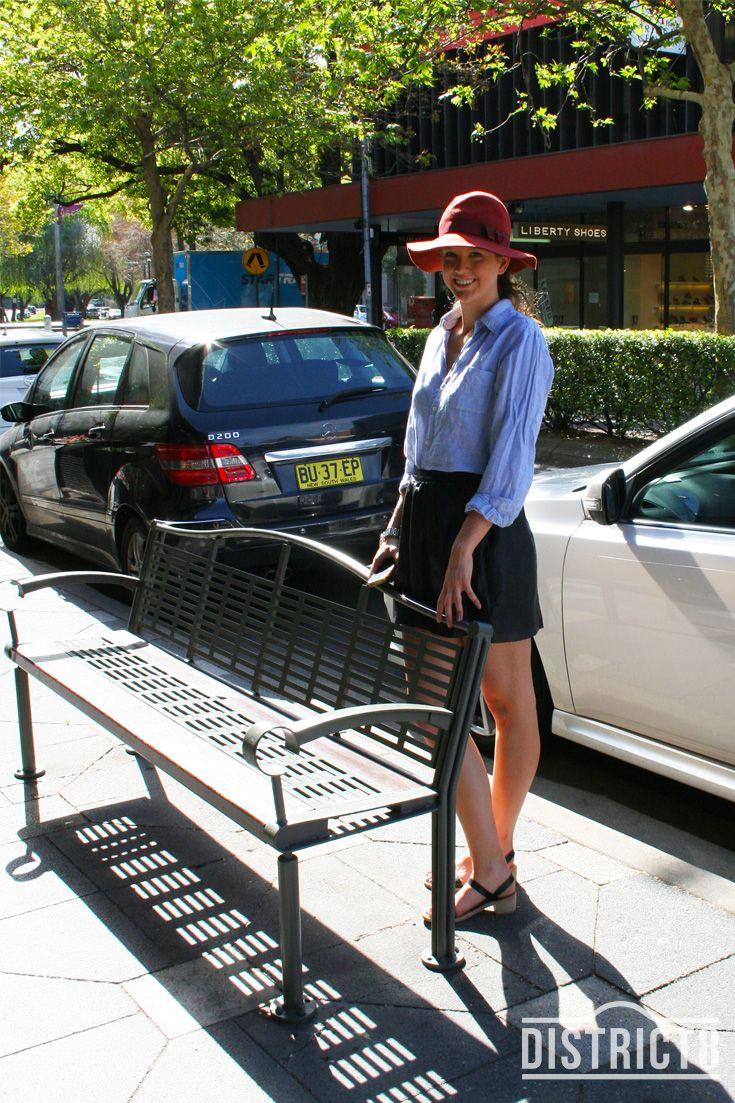 Aleysha. District - DOUBLE BAY, Sydney. Top - Vintage, Skirt - Wayne Cooper, Hat - Sportsgirl http://district8.com/store/sportsgirl , Shoes - Italian Leather http://district8.com/store/casanovas-italian-shoes #Stylish #Street #Fashion #Woman #Hats