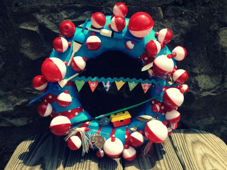 Crossing The Bugger Dixon Line: Fishing Bobber Wreath For Oh Goodie Designs