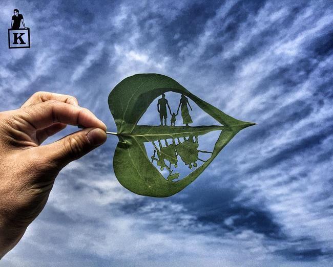 Yaprağın Ucundaki Hayal Dünyası: Yaprak Sanatı ve Gökyüzünü Birleştiren Sanatçı ile Tanışın Sanatlı Bi Blog 12