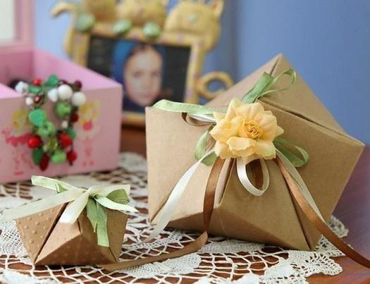 фото оригинальная коробка для упаковки подарка своими руками