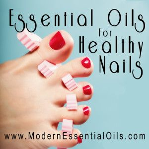 Essential Oils for Healthy Nails - How essential oils can be used to treat brittle, thin nails and help them grow longer. http://ModernEssentialOils.com