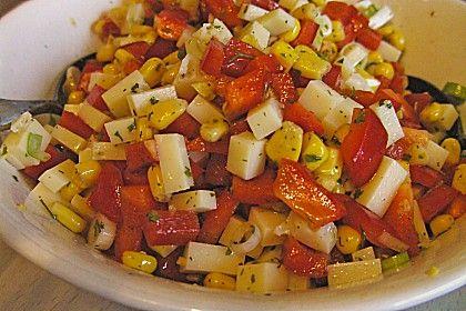 Käsesalat mit Mais und Paprika 1