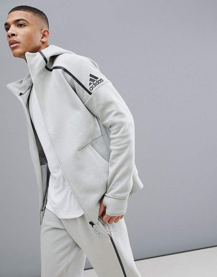 cream adidas hoodie uomo