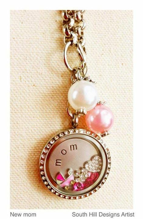 That new mommy will love this locket designed just for her.  www.southhilldesigns.com/faithncharms