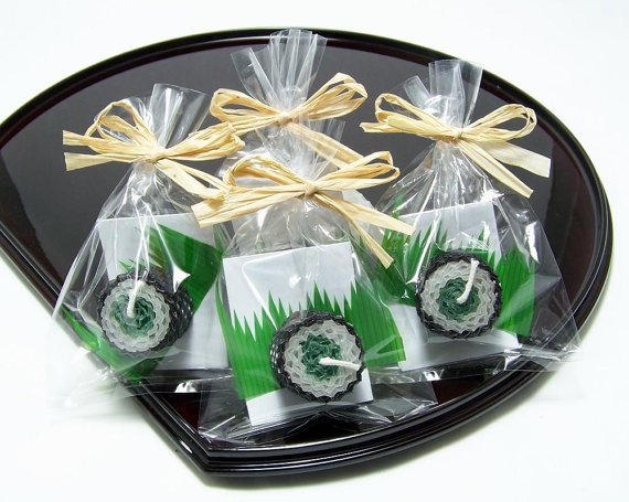 Green Spinach Sushi Japanese Favor Party Candle by doublebrush, $2.50