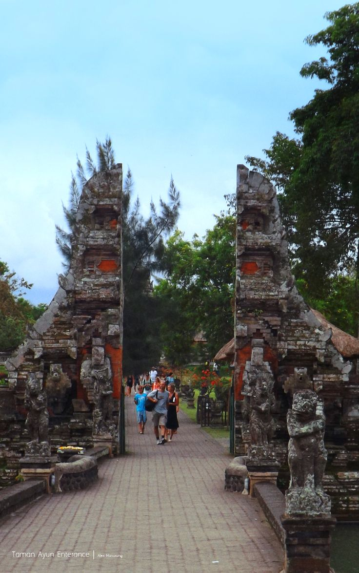Enterance gate of Taman Ayun. #Bali